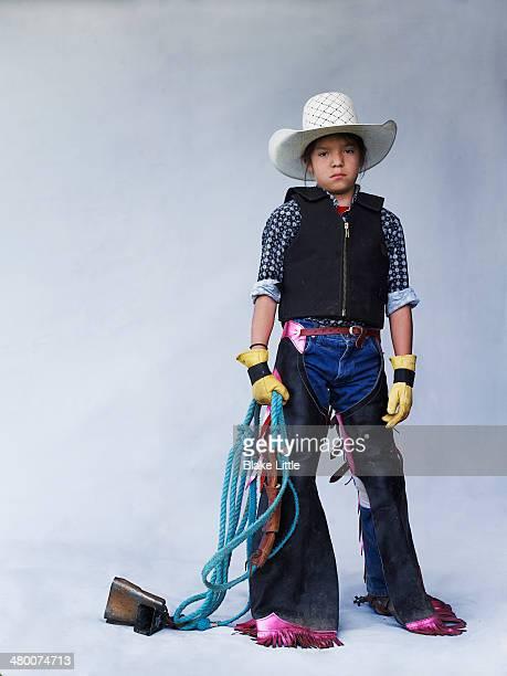 Native Indian Bull Rider Cowboy child