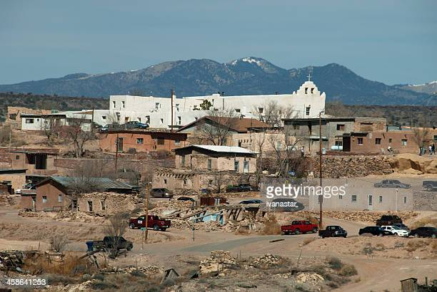 native indian laguna pueblo on route 66 - native american reservation stock pictures, royalty-free photos & images