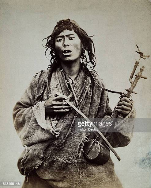 A native musician from the Darjeeling hills in India