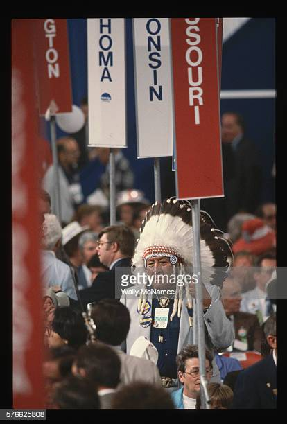 native north american at a political rally - republican national convention stock pictures, royalty-free photos & images
