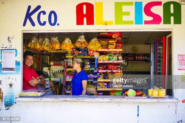 Native Panamians shop near Boquete. Panama
