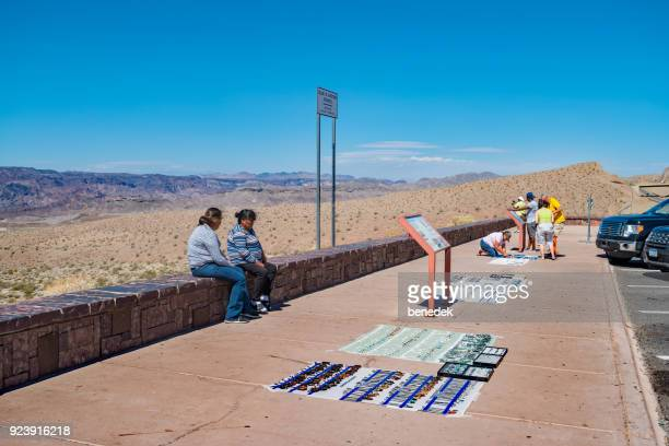 native women sell jewelry at a highway stop in arizona - sells arizona stock pictures, royalty-free photos & images