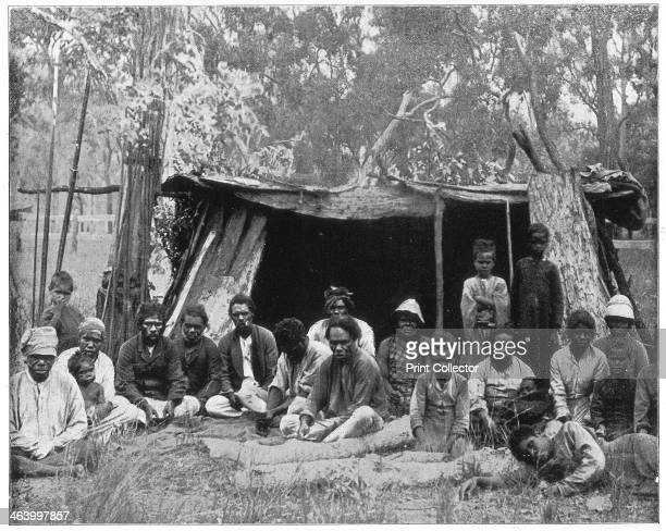 Natives of Queensland Australia late 19th century Group portrait of Aboriginal people whose culture and way of life were suppressed by white settlers...