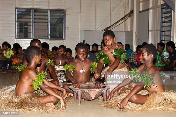 Natives perform Kava Ceremony, Makogai, Lomaviti, Fiji