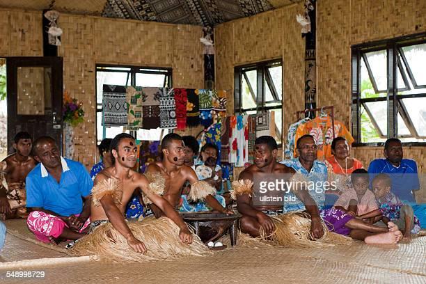Natives perform Kava Ceremony, Pacific Harbour, Viti Levu, Fiji