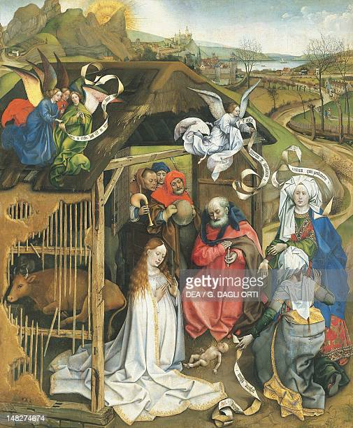 Nativity 14251430 by the Master of Flemalle oil on panel 86x72 cm Dijon Musée Des BeauxArts
