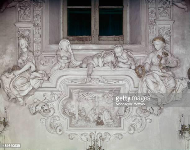 Nativity by Giacomo Serpotta 1686 1688 17th Century stucco Italy Sicily Palermo Oratory of the Rosary in Saint Cita Whole artwork view A nativity...