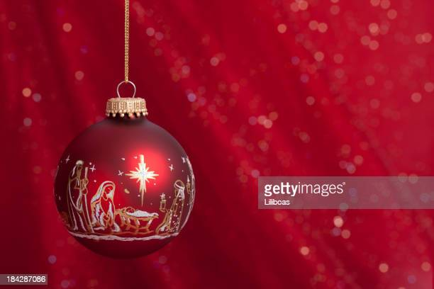 nativity christmas ornament - manger stock photos and pictures