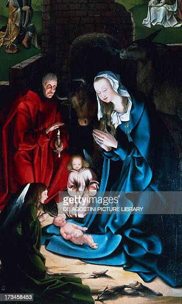 Nativity detail from the altarpiece Kalkar by Jans van Calcar Joest Church of St Nicholai Kalkar Germany