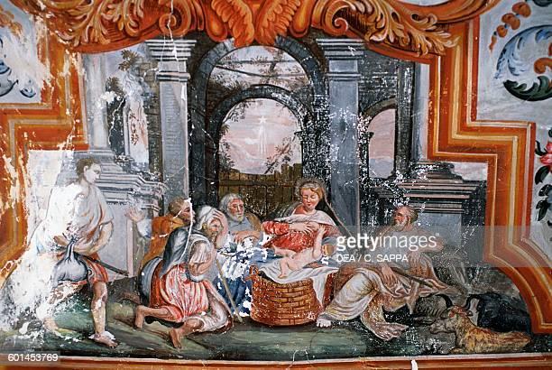 Nativity fresco Chateau de Barroux ProvenceAlpesCote d'Azur France