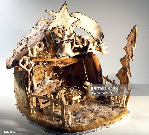 Nativity nativity scene made of pizza dough Italy 20th century