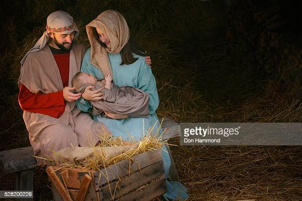 nativity of jesus christ - san giuseppe foto e immagini stock