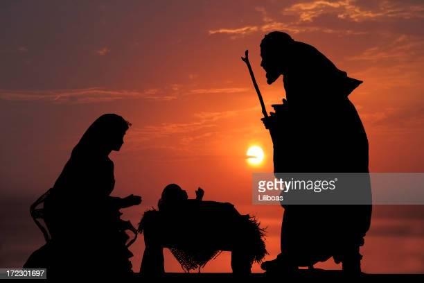 natività (fotografato silhouette - san giuseppe foto e immagini stock