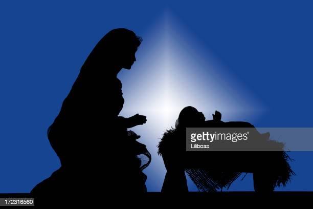 Nativity Silhouette (fotografiert