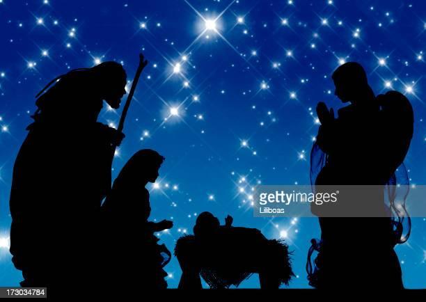 キリスト降誕(写真シルエット)