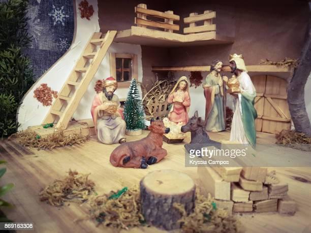nativity scene during christmas - américa central fotografías e imágenes de stock