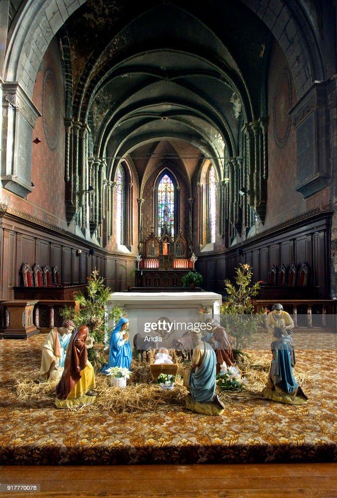 Nativity scene in the Collegiate Church of Saint-Nicolas d'Avesnes-sur-Helpe (northern France).