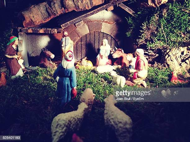 Nativity Scene On Display At Home