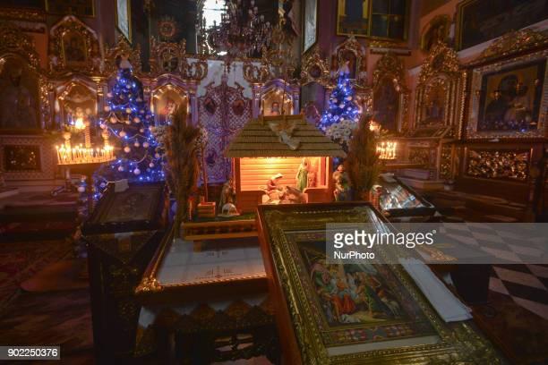 Eastern Orthodox Christmas.A Nativity Scene On Display On Eastern Orthodox Christmas