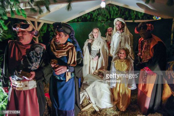 nativity scene - medium group of people stock pictures, royalty-free photos & images