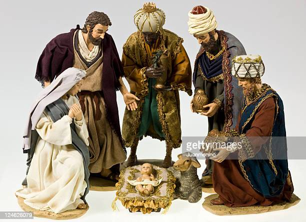 nativity scene - three wise men stock photos and pictures
