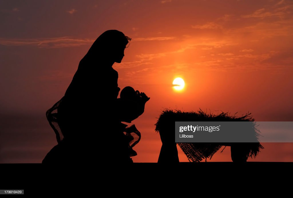 Nativity Scene (Photographed Silhouette) : Stock Photo