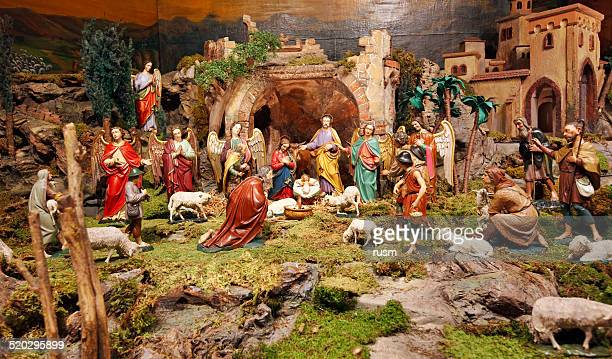 nativity scene - manger stock photos and pictures