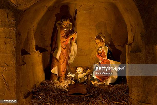 nativity scene - presepio - jesus birth stock pictures, royalty-free photos & images