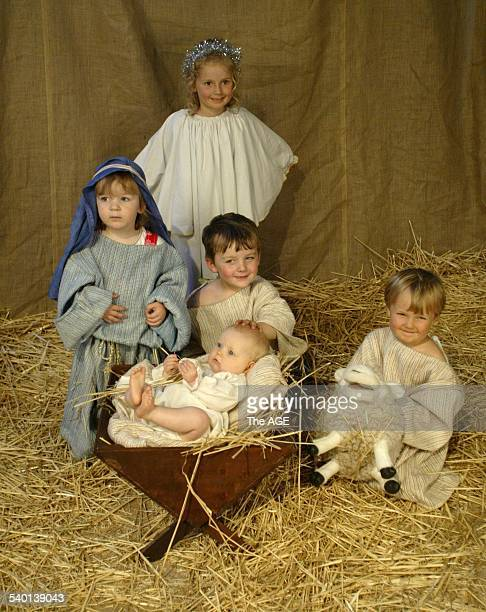 A nativity scene set up in St Pauls Cathedral in Swanston street where children come to have their photos taken with baby Jesus Wednesday 15th...
