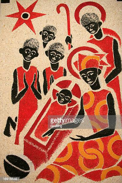Nativity The Keur Moussa abbey church fresco was designed and painted in 1963 by Dom Georges Saget