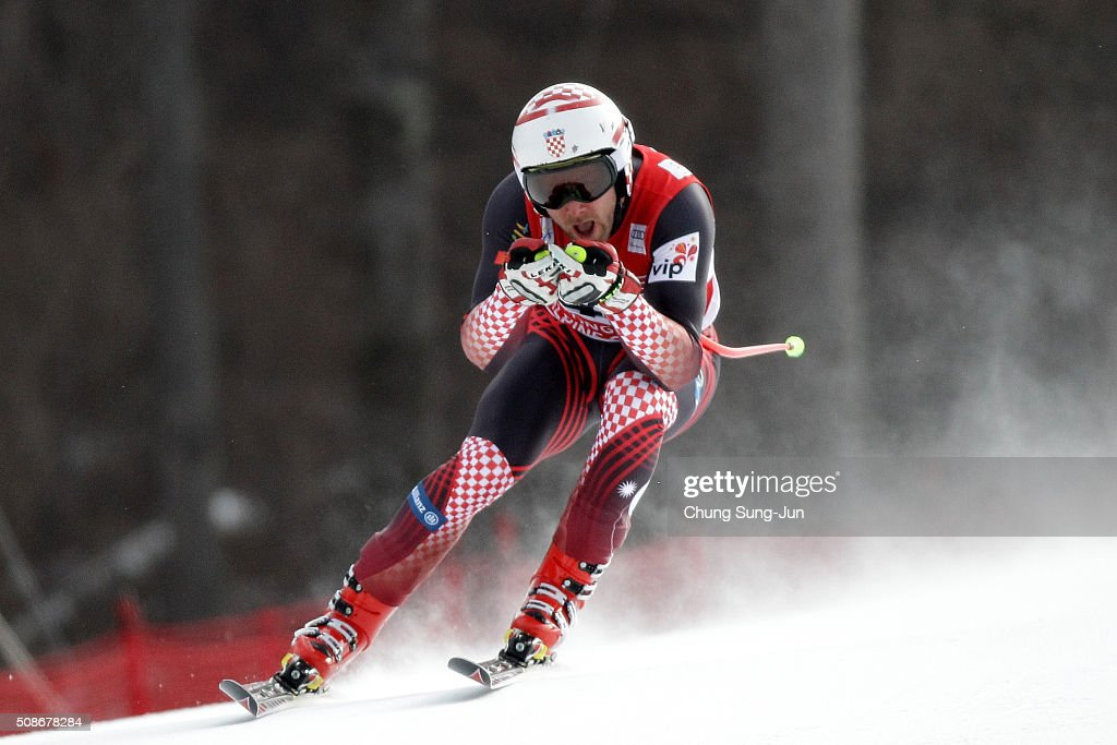 Natko Zrncic Dim of Croatia competes in the Men's Downhill Finals during the 2016 Audi FIS Ski World Cup at the Jeongseon Alpine Centre on February 6, 2016 in Jeongseon-gun, South Korea.