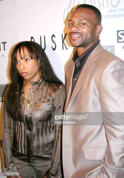 Natlyn Washington and Roy Jones Jr during Olympus Fashion Week Fall 2005 - Syd And Roy Private Showing at Parsons School of Design in New York City,...