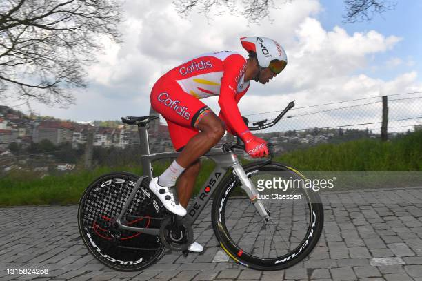 Natnael Berhane Teweldemedhin of Eritrea and Team Cofidis during the 74th Tour De Romandie 2021, Stage 5 a 16,19km Individual Time Trial stage from...