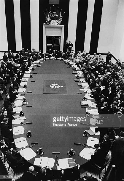 Nato Council And Ministers In Session In Ottawa On 1963