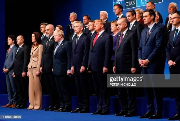 Nato heads of government : Canada's Prime Minister Justin Trudeau, Bulgaria's President Rumen Radev, Belgium's Prime Minister Sophie Wilmes,...
