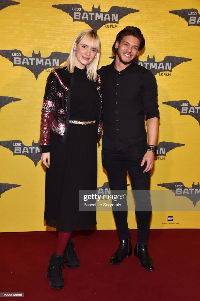 Natoo and Rayane Bensetti attend 'Lego Batman' Premiere at Le Grand Rex on February 1, 2017 in Paris, France.