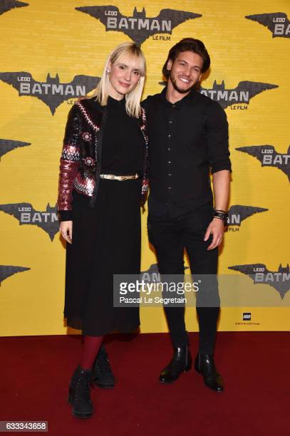 Natoo and Rayane Bensetti attend 'Lego Batman' Premiere at Le Grand Rex on February 1 2017 in Paris France