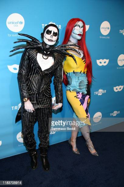 Nats Getty and Gigi Gorgeous attend the 7th Annual UNICEF Masquerade Ball 2019 at Kimpton La Peer Hotel on October 26 2019 in West Hollywood...