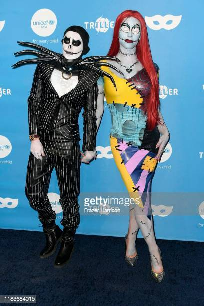 Nats Getty and Gigi Gorgeous attend the UNICEF Masquerade Ball at Kimpton La Peer Hotel on October 26 2019 in West Hollywood California