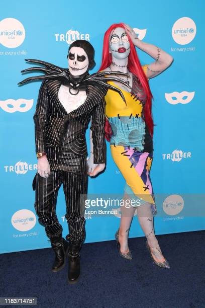 Nats Getty and Gigi Gorgeous attend UNICEF Masquerade Ball at Kimpton La Peer Hotel on October 26 2019 in West Hollywood California