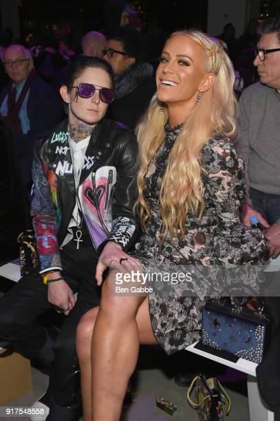 Nats Getty and internet personality Gigi Gorgeous attends the Anna Sui fashion show during New York Fashion Week The Shows at Gallery I at Spring...