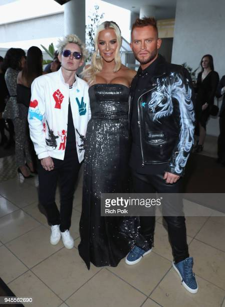 Nats Getty Gigi Gorgeous and August Getty experiencing the Ketel Market at the 29th Annual GLAAD Media Awards Los Angeles in partnership with LGBTQ...
