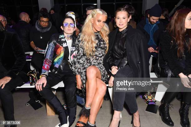 Nats Getty Gigi Gorgeous and Danielle Bernstein attend Anna Sui Front Row February 2018 New York Fashion Week at Spring Studios on February 12 2018...