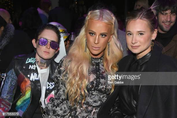 Nats Getty Gigi Gorgeous and Danielle Bernstein attend the Anna Sui fashion show during New York Fashion Week The Shows at Gallery I at Spring...