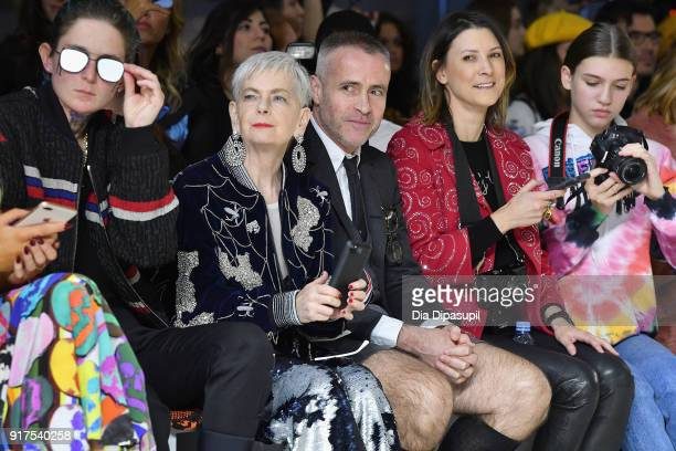 Nats Getty Lyn Slater and Thom Brown attend the Libertine fashion show during New York Fashion Week The Shows at Gallery II at Spring Studios on...