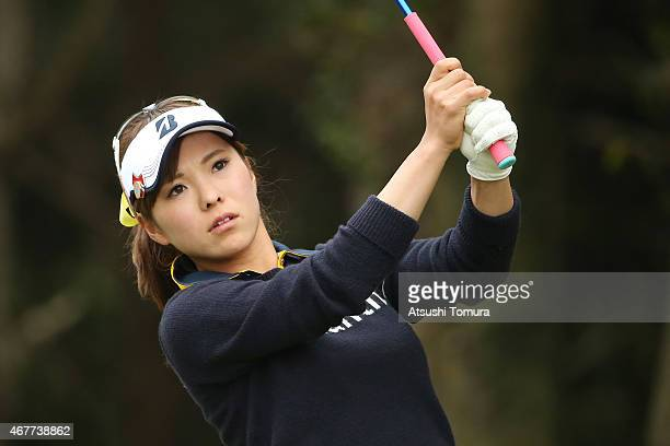Natsuka Hori of Japan hits her tee shot on the 11th hole during the first round of the AXA Ladies Golf Tournament at the UMK Country Club on March 27...