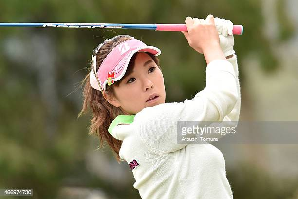 Natsuka Hori of Japan hits her tee shot on the 2nd hole during first roundof the TPoint Ladies Golf Tournament at the Wakagi Golf Club on March 20...