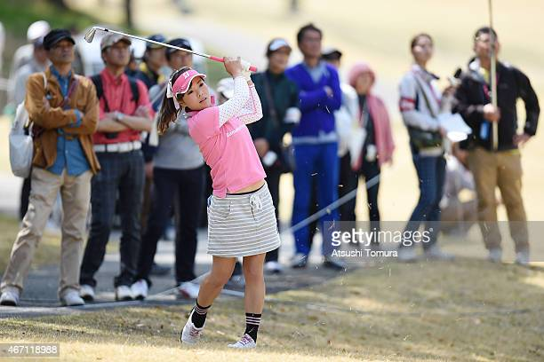Natsuka Hori of Japan plays her shot on the 8th hole during the second round of the TPoint Ladies Golf Tournament at the Wakagi Golf Club on March 21...