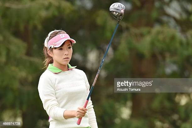 Natsuka Hori of Japan takes aim on the 2nd hole tee during first round of the TPoint Ladies Golf Tournament at the Wakagi Golf Club on March 20 2015...
