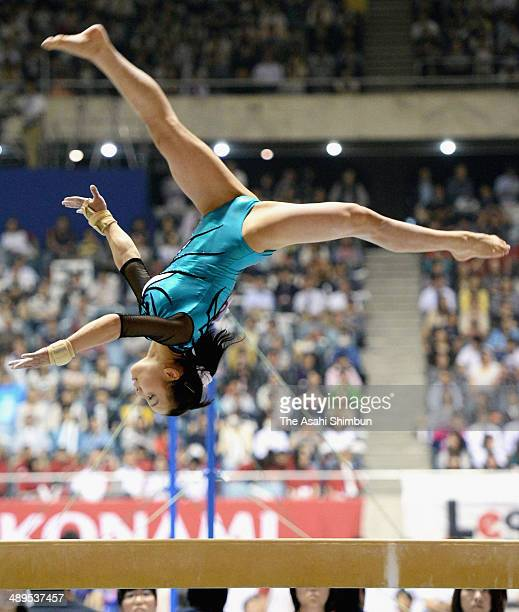 Natsumi Sasada competes in the balance beam during day three of the All Japan Artistic Gymnastics Individual All Around Championships at Yoyogi...